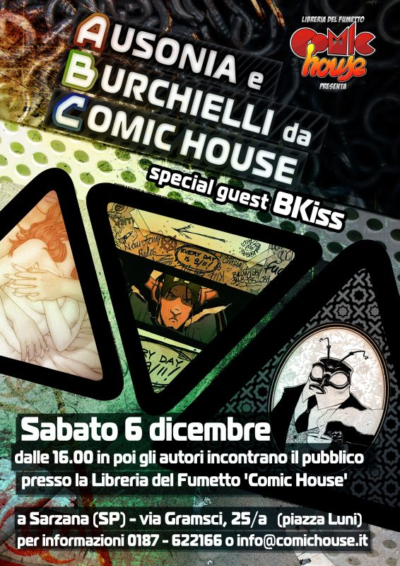 Ausonia, Burchielli e BKiss da Comic House !